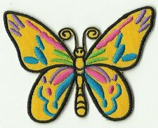 écusson ECUSSON PATCHE PATCH THERMOCOLLANT PAPILLON JAUNE MULTICOLORE 8 X 6 CM