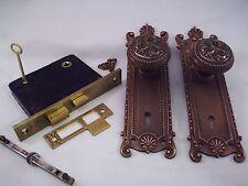 Antique Cast Brass Door Knob Set Mortise Lock Key Door Set Russell Erwin #699