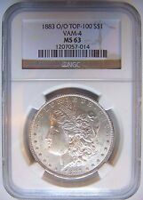 1883 O/O Silver Morgan Dollar NGC MS 63 Vam 4 Mint Error Graded Coin Top 100