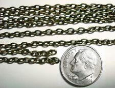 3 ft 3x2mm Antique bronze plated cable link jewelry making beading chain PCH020