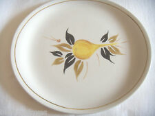 WOOD & SONS HOMEMAKER BAR-B-Q OVAL PLATE  ALPINE WHITE 1960'S RETRO no6