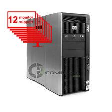 HP Z800 Multi 12-Monitor Computer/Desktop 8-Core/1TB + 256GB SSD/ NVS440/Win10