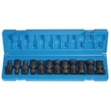 "Grey Pneumatic12 Piece 3/8"" Drive Universal Swivel SAE Impact Socket Set"