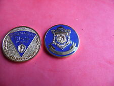 Massachusetts State Police Challenge Coin badge patch GOLD color