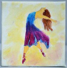 Bailarina. Mini Acuarela. galería De Lona artista contemporáneo 2000-Now