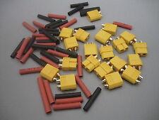 10pairs RC XT60 Male &Female Bullet Connectors Plugs FRC Lipo Batte+ Heat Shrink