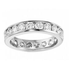 2.00 ct Ladies Round Cut Diamond Eternity Wedding Band Ring in 18 kt White Gold