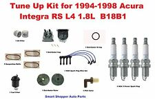 Tune Up Kit for 94-98 Acura Integra RS Belt, Distributor Cap, Rotor, Spark Plug