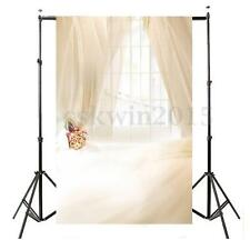 3x5FT Romantic Window Curtain Studio Photography Backdrop Wedding Background