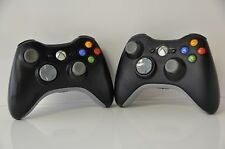Official Genuine Microsoft xbox 360 Wireless Controller (Black) Lot of 2 Un