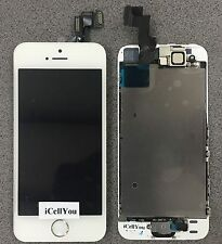 White LCD Touch Screen Display Digitizer Replacement Assembly for iPhone 5S Gold