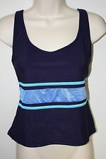 Tankini Swimsuit Top~Sz 16~Navy Blue~Suit Your Self!~Lightly Padded Shelf Bra