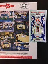 DECALS 1/43 FORD FOCUS WRC DATI RALLYE MONTE CARLO 2002 WRC RALLY
