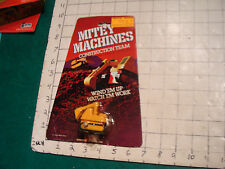 Mitey Machines Construction Team--galoob white knob wind-up BACK HOE moc 1981
