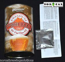 Homebrew Ingredient Kit Muntons CANADIAN STYLE BEER 6 Gallon Molson Labatt Lager