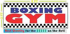 BOXING GYM Full Color Banner Sign Fight Club Mixed Martial Arts Studio Cardio