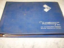 DDR Wartburg 353 Catalogo ricambi Tedesco / Inglese 1975
