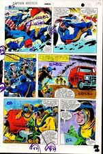 1981 Colan Captain America Annual 5 Marvel Comics color guide art page 7: 1980's