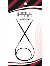 Knitter's Pride ::Karbonz Circular Needles:: 5 US 16 in