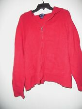 WOMENS PLUS SIZE SZ 22/24 RIBBED HOODED SWEATER ZIP UP VENEZIA JEANS