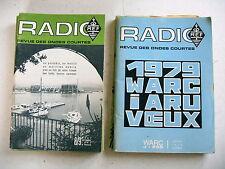 RADIO revue des ondes courtes lot 12 année 1976 complète + janvier 1979