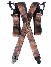 2 inch 'Hardwood' Camouflage Suspenders -  Button On