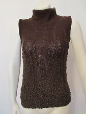 Sexy GENNY by VERSACE wool blend sleeveless sweater top size 42 IT 8 US BNWT