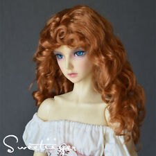 "8-9"" 1/3 BJD Hair IP SD doll wig Super Dollfie Natural honey curls M-mohair"