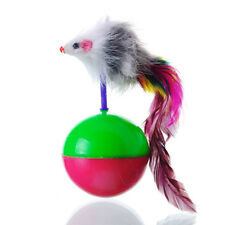 Hot 1pc Dogs Pet Cats Activity Toys Mouse Tumbler Plastic Balls Playing Plastic