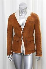 DSQUARED2 Mens Brown Shearling Lambskin Button Front Coat Jacket sz.48