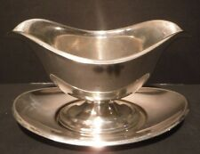 Vintage Reed & Barton X15 Silverplate Gravy Boat W/Under-plate EPNS