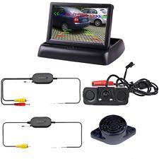 Podofo Wireless Car Bcakup Camera 3in1 Reverse Camera Parking Sensors Radar Dete