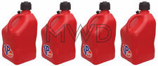 4 VP Racing Red 5 Gallon Square Fuel Jug/Utility Water Container/Jerry Gas Can