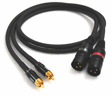 2x1,00m Sommercable GALILEO /Adapterkabel Cinch-XLR male/...bestes der Klasse!