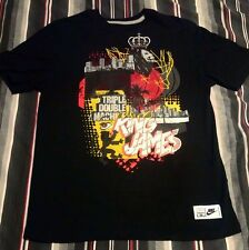 NIKE LEBRON 12 TEE SHIRT TRIPLE DOUBLE MACHINE LION KING JAMES BLACK JORDAN KOBE