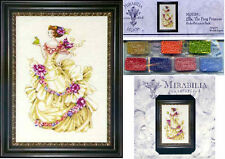 MIRABILIA Cross Stitch PATTERN & EMBELLISHMENT PACK Ella the Frog Princess MD129