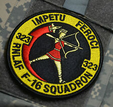 RoNLAF NETHERLAND AIR FORCE SWIRL F16 IMPETU FEROCI 323 SQN DISPLAY DEMO TEAM