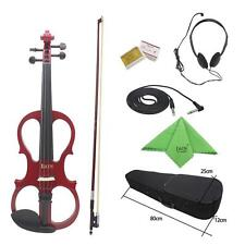 IRIN 4/4 Wood Maple Electric Violin Fiddle with Accessories Kit Case Q2C1