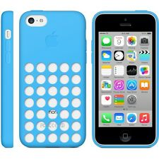 Genuine Apple iPhone 5C Silicone Dot Case Cover Black White Blue Green Pink