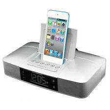 Capello Stereo FM Clock Alarm Radio with Lightning Dock for iPhone 5/5S and