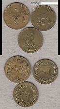 3 diverse Nürnberger Rechenpfennige Spielmarken three different tokens (D143)