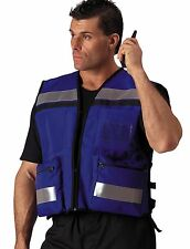 New EMT/EMS Paramedic Fire/Rescue Deluxe Hi-Visibility Blue Safety Vest