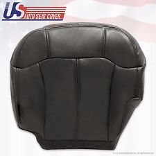 99 -02 Chevy GMC 1500 HD 2500 HD 3500 Driver Bottom Leather Seat Cover Dark Gray