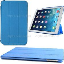 Blue Slim Folding Book Leather Stand Case Cover For iPad 4/3/2 Tablet