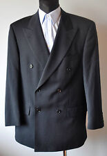 HUGO BOSS Double Breasted Black Blazer UK 42 Suit Jacket VTG Vintage Sakko Gr.52