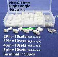 40 set 2p 3p 4p 5pin Right angle JST-XH 2.5mm Male,Female Lipo Balance Connector