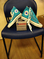 vintage converse chuck taylors hi top Turquoise size 4.5 MADE IN THE USA