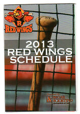Rochester Red Wings 2013 Pocket Season Schedule (Lot of 2)