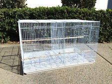 Large Aviary Breeding Finch Parakeet Finch Flight Bird Cage With Divider WHT-349