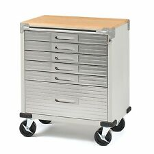 """Steel 6-Drawer Metal Rolling Storage Cabinet Tool Box Wood Workbench 5"""" Casters"""